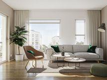 viitteellinen kuva 77,5 m2 asunnosta