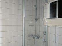 Kylpyhuone on yläkerrassa