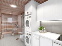 Pesuhuone harmaa