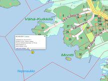 Kartta kiinteistöön kuuluvasta yhteisestä vesioikeudesta