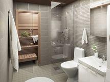 Isommissa kodeissa on myös oma sauna. Viitteellinen kuva.