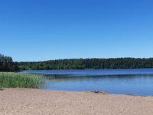 Nummen Pitkäjärven uimarannalle matkaa n.350m