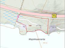 Metsäinen tila, jossa RA-rantarakennuspaikka ja jonka rannalta etelän suuntaan avautuva Puruveden selkävesi