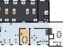 102 m2 tila kuvassa ylhäällä