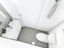Erillinen wc harmaa
