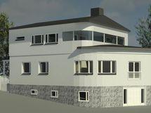 Arkkitehdin havainnekuva laajennuksesta