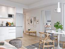 Visualisointi asunnon keittiöstä
