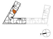 Asunnon C65 sijainti kerroksessa