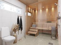 Esimerkkikuva 103 neliöisen huoneiston pesuhuoneesta