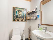 Alakerran erillinen wc.