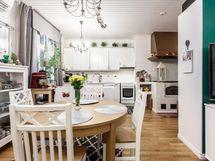Olohuoneesta keittiöön
