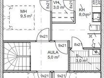 Pohjakuva asunnot B2 ja B4 yläkerta