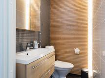 Loistelias, erillinen wc on apuna arjessa.