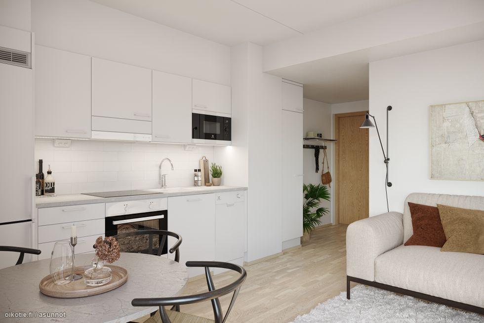 Visualisointikuva 48,0 m2 asunnosta.
