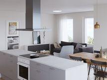 Havainnekuva 79,5 m² asunnosta