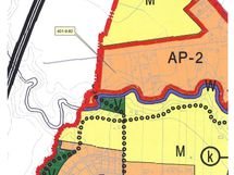 Alueella yleiskaavamerkintä AP-2