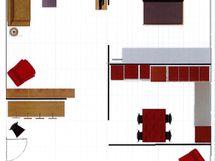 Kuva on suuntaa antava ja lisätyt huonekalut ovat vain hahmotelmaa varten.