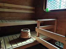 kolmio, sauna.