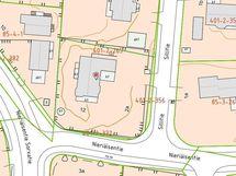 Sillitie 2a kaupunkikartalla ja rajat