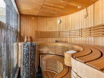 saunaosasto on edustava