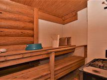 Saunamökissä puulämmiteinen sauna