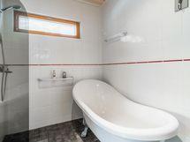 Toisessa kylpyhuoneessa suihku ja tassuamme