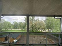 Näkymä parvekkeelta Kanalin suuntaan