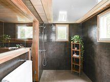 Kylpyhuone saunaosasto