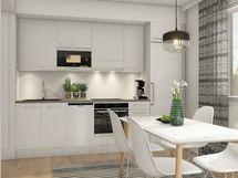 Taiteilijan näkemys asunnon  keittiöstä