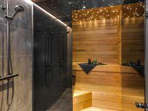 saunassa trendikäs lasiseinä