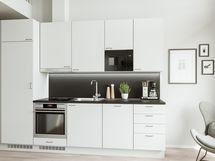 Modernissa keittiössä on mietitty kaikkea.