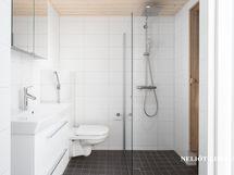 Kaakeloitu kylpyhuon / wc