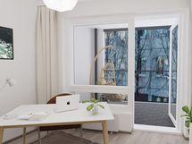 Huom. A 39 näkymät ovat avarat ja esteettömät,esimerkkikuvien ikkuna näkymät 2. kerroksesta