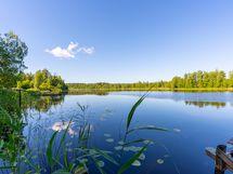 Ahostenjärven rantamaisemaa