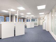 modernia toimistotilaa