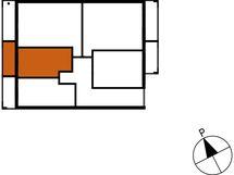 Asunnon B77 sijainti kerroksessa
