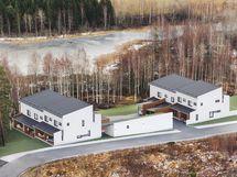 Havainnekuva talojen sijoittumisesta ympäristöön