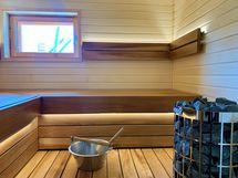 Uusi, remontoitu saunaosasto