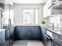 Hyvin toimiva ja valoisa keittiö