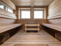A-talon 8.krs terassillinen saunaosasto: Lataamo
