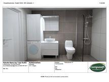 Kylpyhuone 3D kuva kalustesuunnittelu