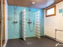 Talon saunaosasto on uusittu muutamia vuosia sitten