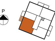Asunnon 2 sijainti kerroksessa