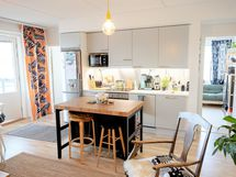 Näkymä keittiö/olohuone