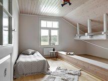 Toinen yläkerran itäpäädyn makuuhuoneista