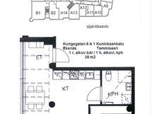 Pohjapiirros+sijainti-Bottenplan+läget