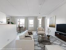 Viitteellinen kuva, asunto on digitaalisesti sisustettu.