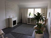 15 kpl samanlaisia huoneistoja. Kuva olohuone