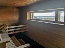 Talon sauna, ylin kerros, merinäkymin