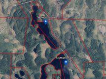 Koukkujärven ja Salmijärven palstat ilmakuva